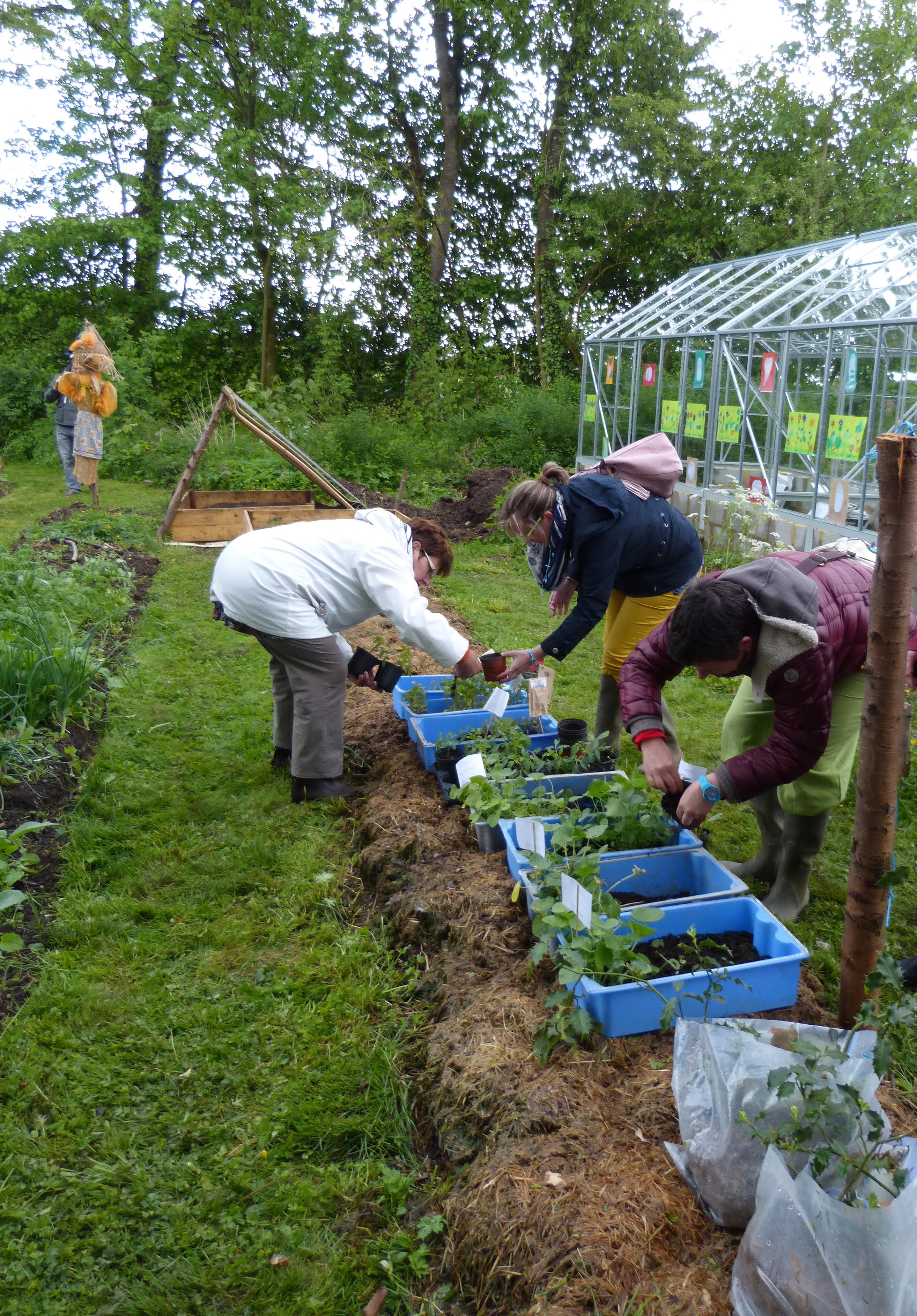 A six au jardin partag de barvaux monde qui bouge for Jardin xavier